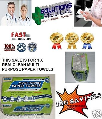 Paper Towels Multi Purpose 200/Pack Handy Strong Absorbent Real Clean