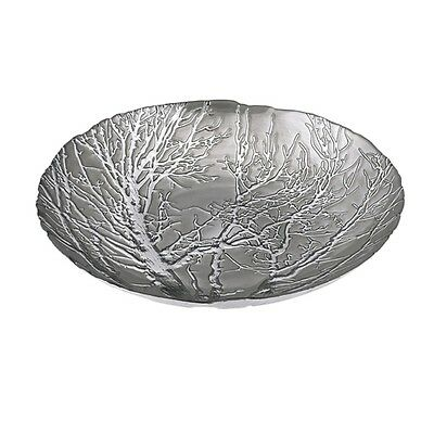 "Imax Ethereal Tree Bowl - Silver Plated 83252 Chargers Plates 15.75""d NEW"