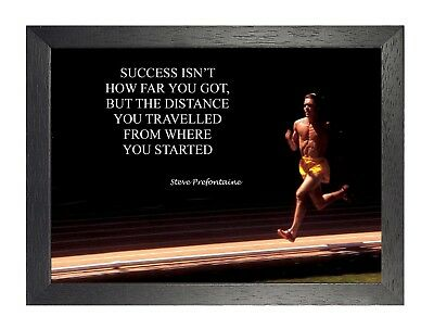 Success Isn't How Far Steve Inspiration Motivation Quote Poster Running Photo