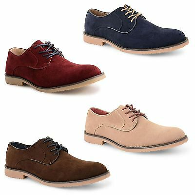 Mens Smart Wedding Shoes Faux Suede Formal Lace Up Office Work Dress Party Size