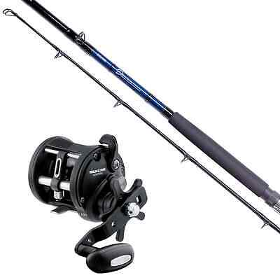 Daiwa D Boat Rod And Sealine Level Wind Reel Combo Sea Fishing