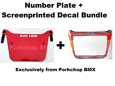 Air-Uni old school BMX bicycle XL Pro Number Plate original 1980/'s molds WHITE