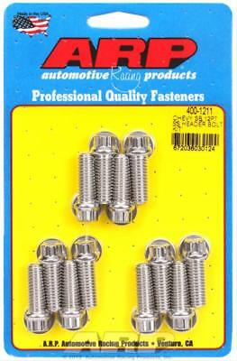 """ARP Header Bolts 12-Point 3/8"""" Wrench Stainless Polished 3/8""""-16 1.000"""" 400-1211"""