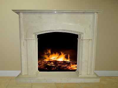 """Fireplace Surround Mantel Marble Cream Living Room Great 56"""" Tall FPS-19 Custom"""
