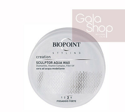 Biopoint Creation Aqua Wax Cera Capelli Ad Acqua Modellante Forte 100Ml