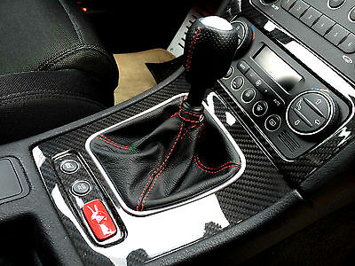 shift boot suitable ALFA ROMEO 159 real black leather red stitching Made in