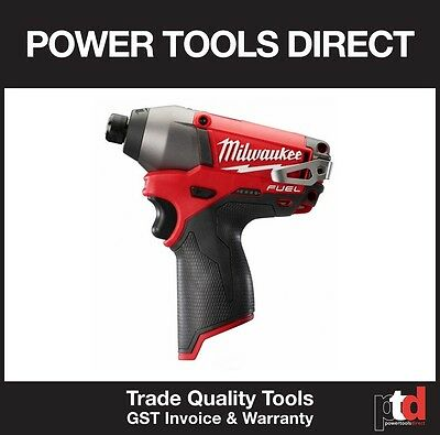 New Milwaukee 12V Fuel Cordless Brushless M12Cid Impact Driver Tool Skin Only