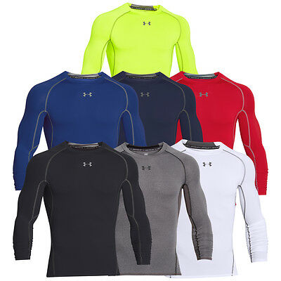 WOW!! UNDER ARMOUR 1257471 HG Compression Armour Longsleeve Tee Shirt Shirts