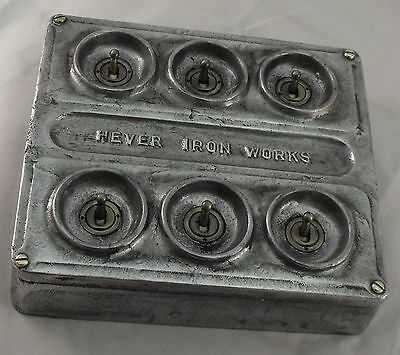 NEW Vintage toggle Industrial Cast metal lightswitch light switch 20mm conduit