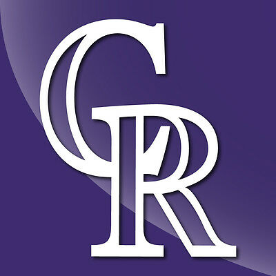 Colorado Rockies Single Color Decal Sticker - TONS OF OPTIONS