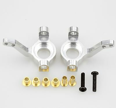 Aluminum Front Knuckle Arm/Steering Knuckle Silver 2pc For Axial AX10 SCX10