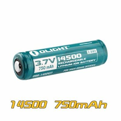 Olight 14500 3.7V 750mAh AA Rechargeable Li-ion Protected Battery ORB-145P07