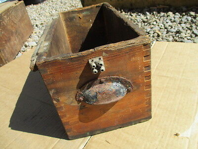 Vintage Wooden Crate Tub Box drawer Iron Cup Handles Pine 1940-50's