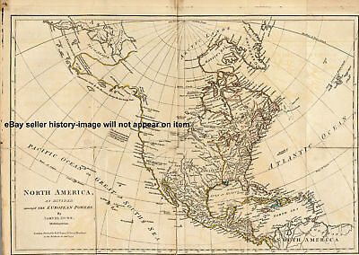 1776 Large Historic British War Map America Canada