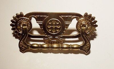 One Antique Original Vintage brass pull