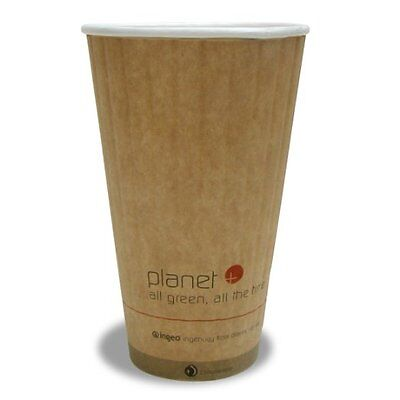 Planet + 100% Compostable PLA Laminated Double Wall Insulated Hot Cup, 20-Ounce,