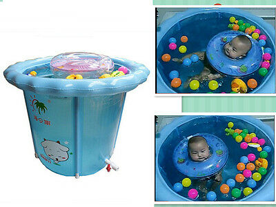 Baby's Inflatable round swimming pool thick and solid swimming bucket--0-12Month