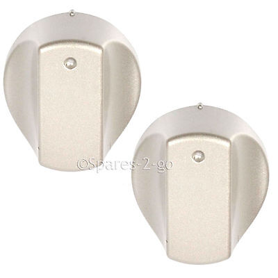 2 x Silver Control Knob Knobs Switch for HOTPOINT Hot-Ari ix Hob Oven Cooker