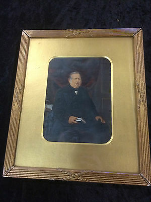 Antique Photograph Of Male Mounted In Gilt Frame Circa 1860's
