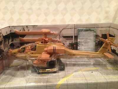 Ah-64D Apache Longbow Helicopter 1:48 Diecast Collectible ,stand,technical Spec.