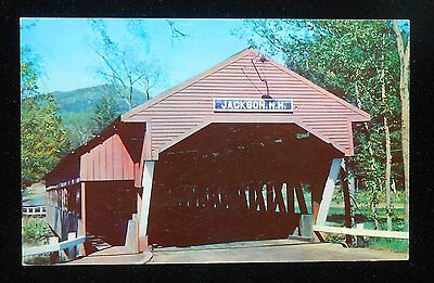 1960s Covered Bridge White Mountains Jackson NH Carroll Co Postcard