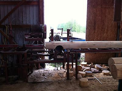 Complete Saw Mill for processing logs for homes and cabins