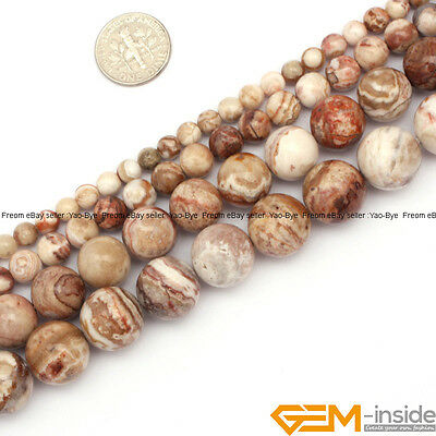 """Natural Gemstone Brazil Crazy Lace Agate Onyx Round Beads For Jewelry Making 15"""""""