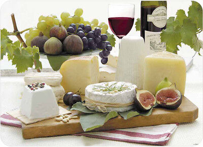 Tuftop Enjoy Cheese Large Glass Worktop Saver Protector Chopping Board 50x40cm