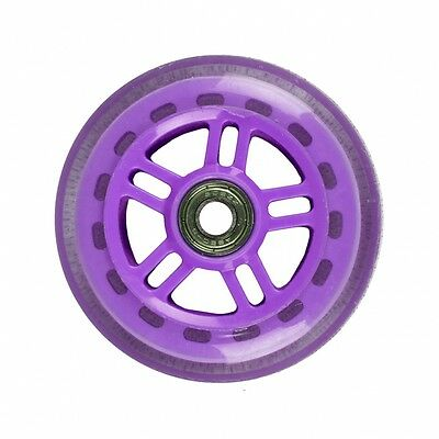 JD Bug 100mm Nylon/Plastic Core Scooter Wheel with ABEC 5 Bearings Purple