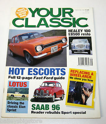 Your Classic Car Magazine Sept 1992  - Ford Escort, Saab 96