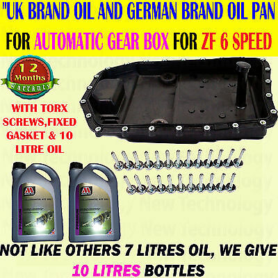 For Bmw 5 Series E60 / E61 Oil Sump Pan Auto Transmission Gearbox +10Litres Oil