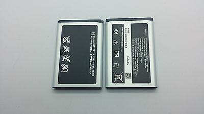LOT OF 2 NEW BATTERY FOR SAMSUNG M500 CHRONO R260 T619 A420 A580 A640 T429 r220