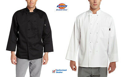 Dickies Chef Classic Long Sleeve Chef Coat with Cloth Knott Buttons DC109
