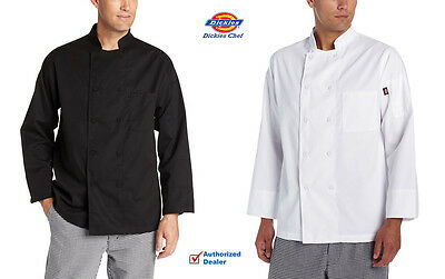 Dickies Chef Coat Long Sleeve with Cloth Covered Buttons DC110