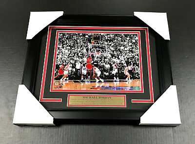 Michael Jordan Chicago Bulls Last Final Shot Framed 8X10 Photo 1998 Finals