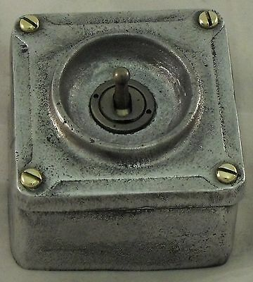 NEW Cast Metal Vintage Industrial 1 Gang Light Switch - BS EN Approved