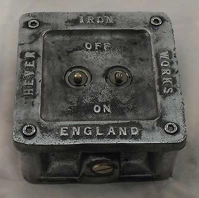 Vintage Industrial 1/2/3 Gang Cast Metal Heavy Light Switch - BS EN Approved