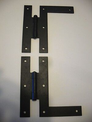 Vtg NOS Steel Bonderized Dead BLACK Cabinet Door HINGES HL Flush Style Stanley