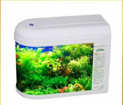7 Litre Nano Aquarium Fish Tank Tropical/Coldwater LED Light With Accessories
