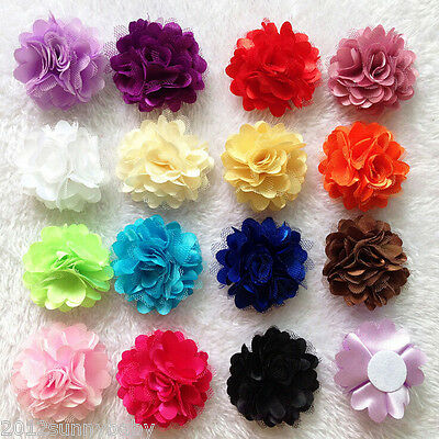 """10pcs Kids Baby Girl Toddler Flower Headbands Clip Hair Bow Accessory Corsage 2"""""""