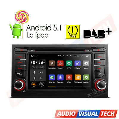 """Audi A4/Seat Exeo Stereo 7"""" Touch Screen Android 5.1 Car GPS Sat Nav DVD Radio"""