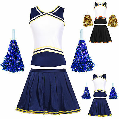 Costume Jupe Débardeur Cheer leader Pompom girl Deguisement Uniforme Carnaval
