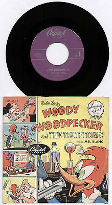 "[Learning Is Fun!] Mel Blanc ~ Woody Woodpecker & The Truth Tonic ~ Us 7"" Single"