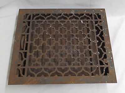 Antique Cast Iron Heat Register Grate Vent Old Decorative Hardware Vtg 4675-15