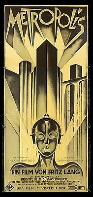 METROPOLIS * CineMasterpieces S2 MOVIE POSTER 3SHEET RECREATION LTD EDITION 1997