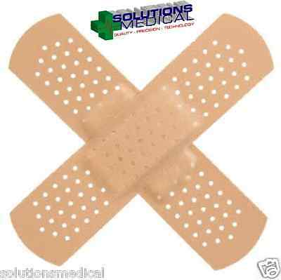 300 X First Aid Plastic Dressing Strips Latex Free Band Aids Loose Sterile