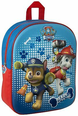 Paw Patrol 3D Image Backpack Chase & Marshall Kids School Junior Bag