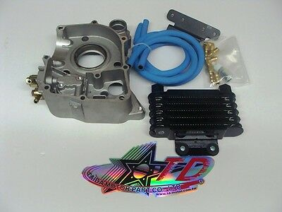 TAIDA HIGH PERFORMANCE GY6 OIL COOLER SET 57mm (FOR CLASS B BLOCKS) *NEW*