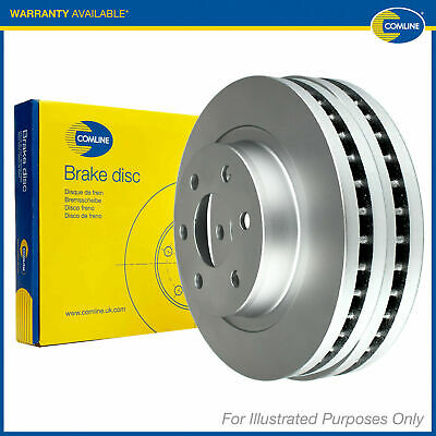2x Comline Front Brake Discs Pair Genuine OE Quality Service Part