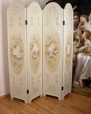 Room Divider Roses Screen Foldable Shabby Chic